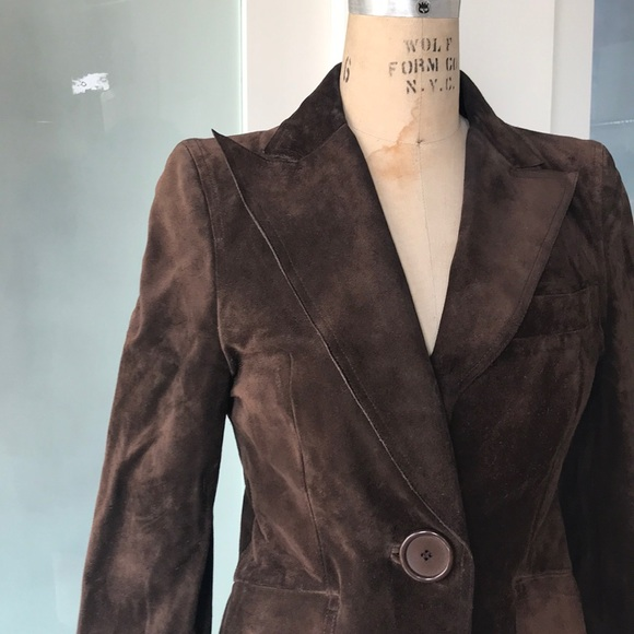 Costume National Jackets & Blazers - Fitted Suede blazer with peak lapels.